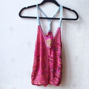 Free People Embellished Tank Top Size S